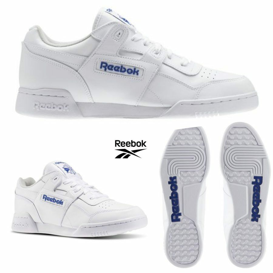 Reebok Classic Workout Plus Runner Leather Shoes White 2759 SZ 4-12