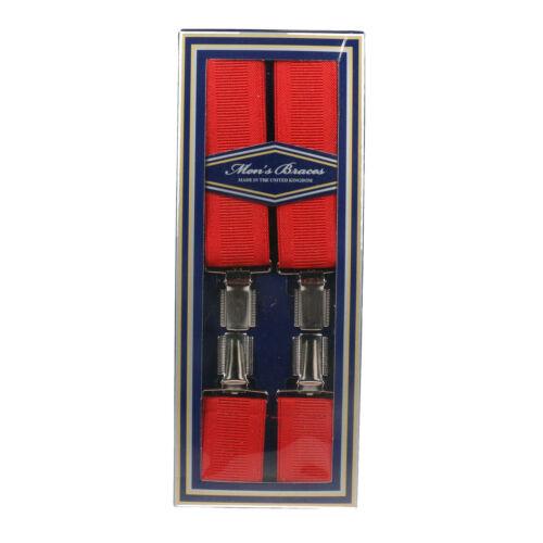 8 Colours Mens Braces 35mm Wide Strong Metal Clip Adjustable Elastic Suspenders