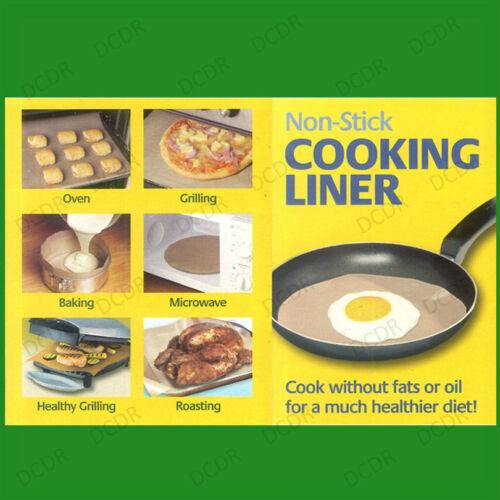 Riutilizzabile ANTIADERENTE COTTURA RIVESTIMENTO cucinare senza grassi FORNO MICROONDE GRILL VASSOI