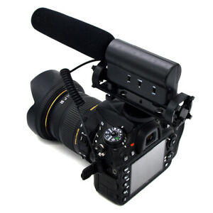 3-5-mm-pro-Shotgun-DV-Stereo-Mic-Microphone-pour-Canon-Nikon-DSLR-Camera-Cam