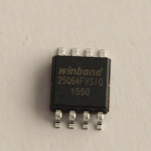 Winbond 25Q64FVSIQ serial flash memory Flash chip.