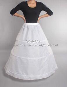 3-Aros-Vestido-Blanco-De-Novia-Enaguas-Crinolia-Damas-Baile-Vestido-De-Fiesta