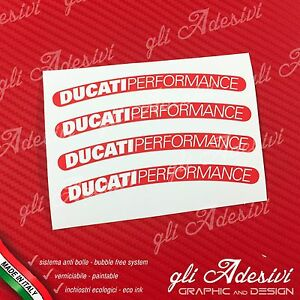 4-Adhesives-Wheels-Motorcycle-DUCATI-Performance-Old-Red-And-White