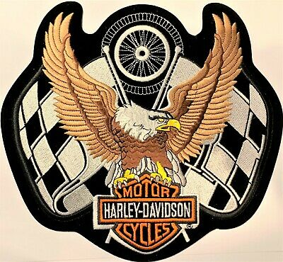 Biker Brown Upwing Eagle patch Quality Embroidered Sew//iron biker vest harley