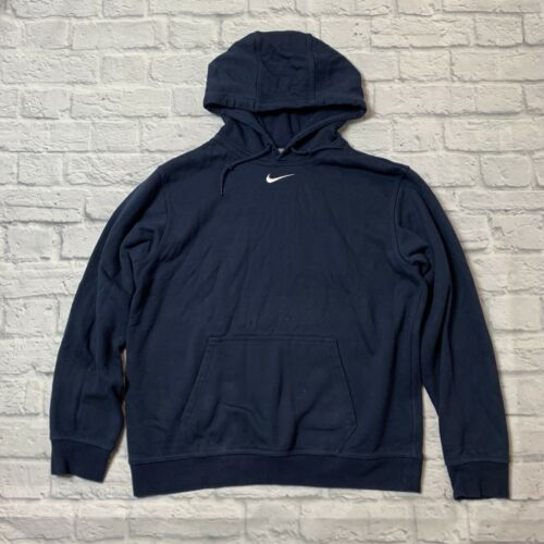 Nike Hoodie Swoosh White Center Check Sweatshirt M