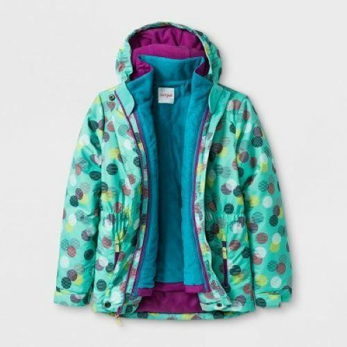 NWT Girls/' 3-in-1 System Jacket Cat /& Jack All Weather Aqua XXL 18