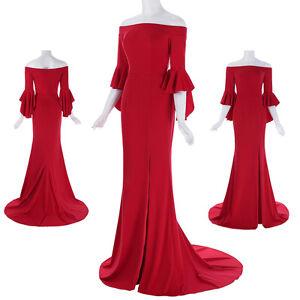 damen lange rot abendkleider cocktailkleid brautkleider brautjungfern gr3446  ebay