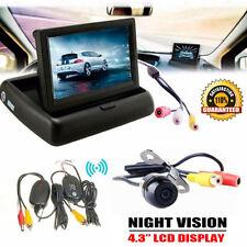 "4.3"" LCD Car Rear View Monitor Wireless Car Backup Camera Parking System Kit UK"