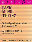 Basic Music Theory: 50 Ready-To-Use Activities For Grades 3-9 (Unit 1): Unit 1 by Audrey J. Adair-Hauser (Paperback, 1987)