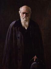 "TOP ART # theory of evolution materialism Charles Robert Darwin painting 32"""