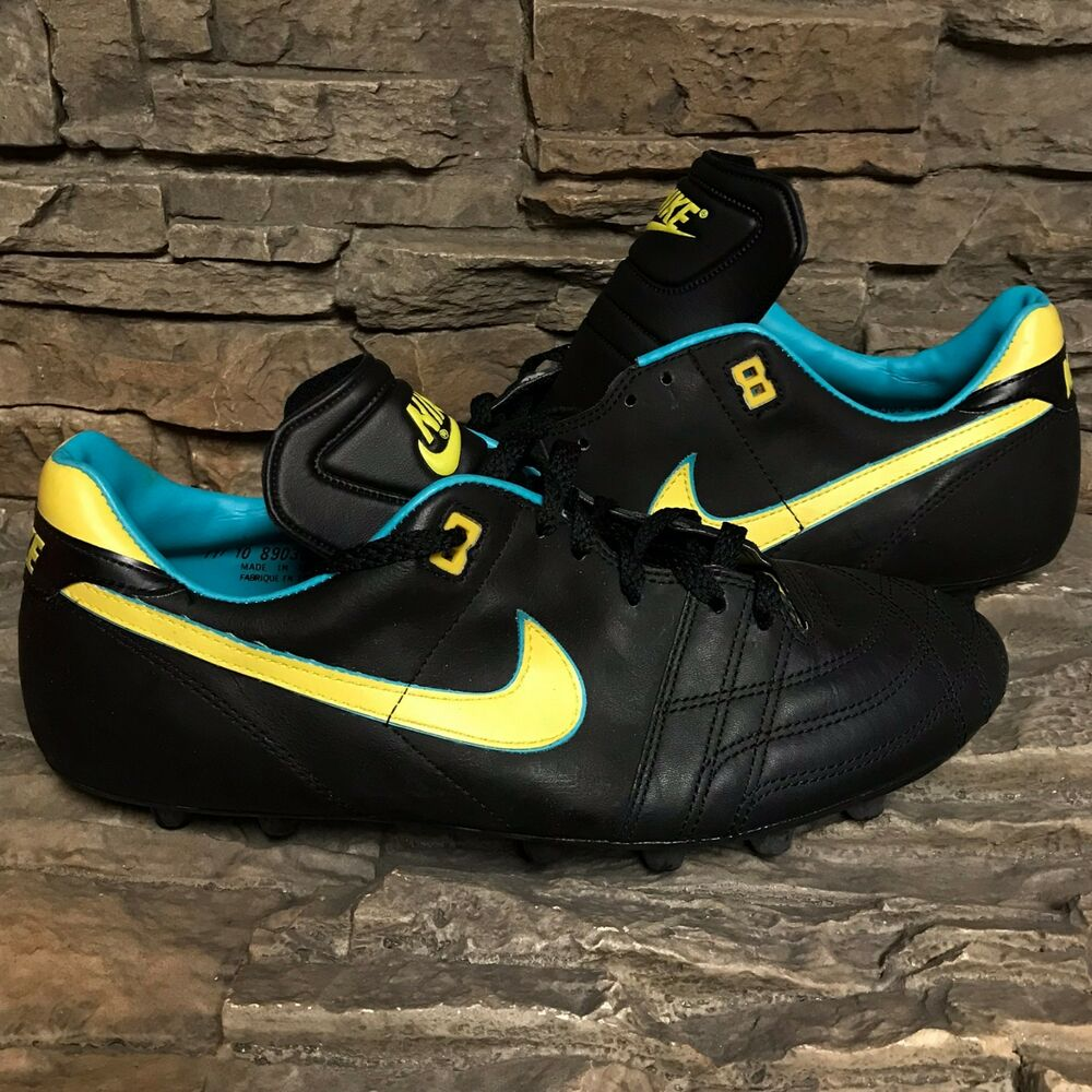 VTG OG Nike Firestar noir noir noir Soccer chaussures Cleats Rare Display Box homme NOS Sz 11 02f999
