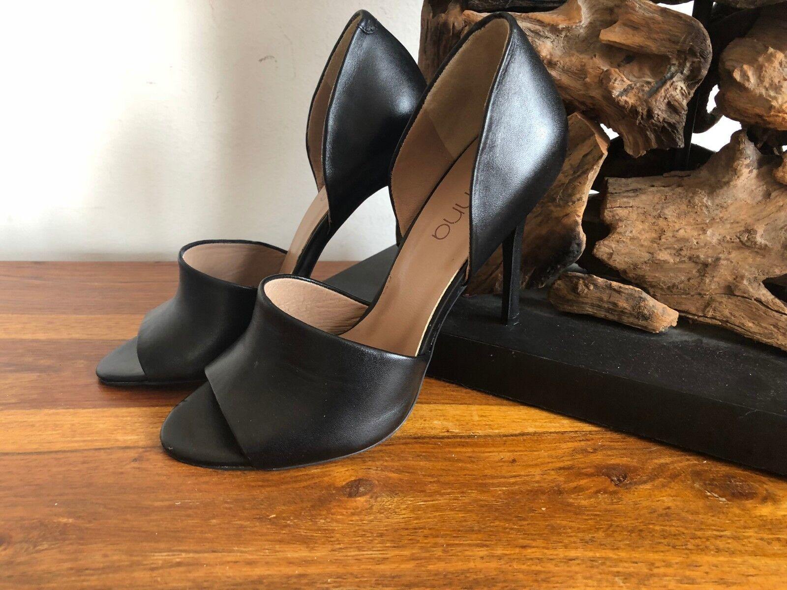 Sienna Sandalette NEU Sandale Leder schwarz Peeptoe High Heels NEU Sandalette Gr 38 SU51s 2ef081