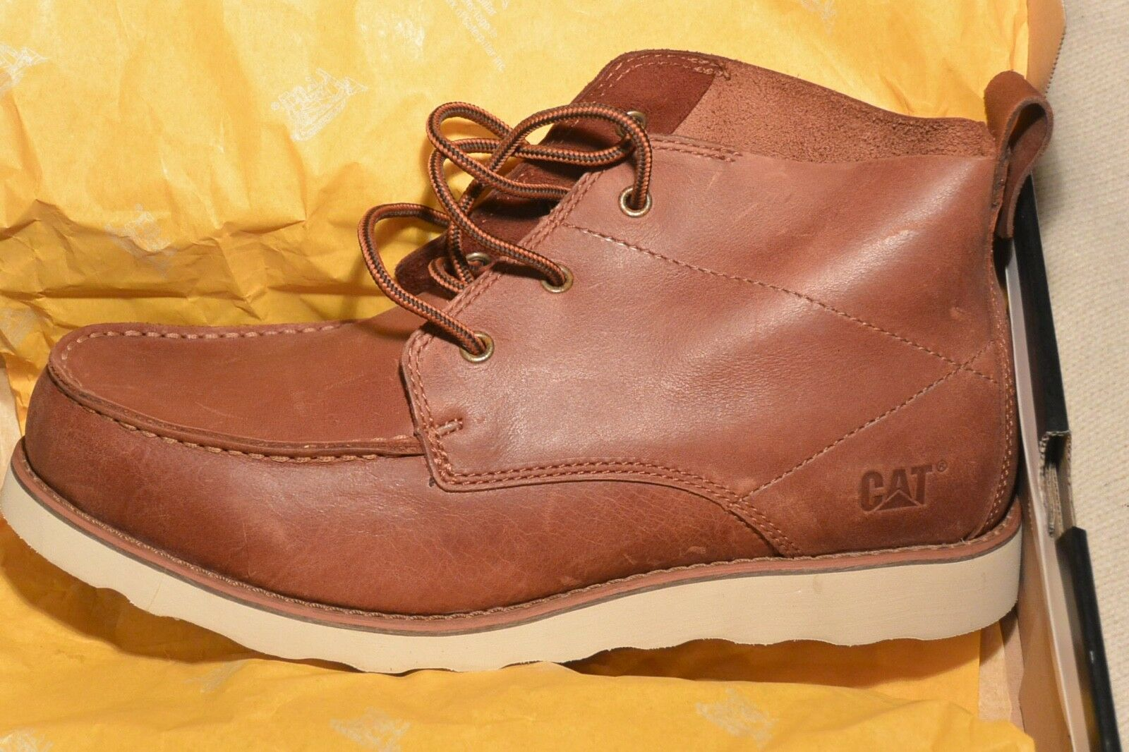 CAT Caterpillar DAVIS 6 BOOT BRICK 44-COGNAC