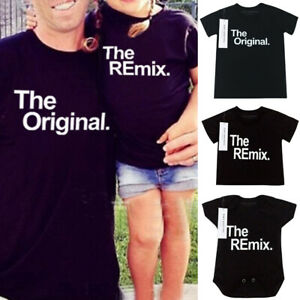 Family-Matching-Outfit-Parent-child-Top-Mom-Dad-Bady-Casual-Short-sleeve-T-Shirt