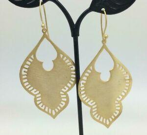 18K-Gold-Sterling-Silver-Large-Teardrop-Moroccan-Earrings-Ethnic-Boho-Bali-India