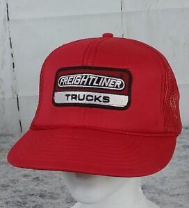 4debfa1d37201 Image is loading Vintage-Freightliner-Trucks-Foam-Front-Red-Mesh-Snapback-