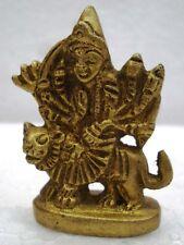 HINDU Goddess AMBE MA Statue Figurine - BRASS - Mataji Shakti Maa Ambaji (330)