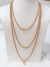"Antique Victorian 9ct Gold Guard/Muff Chain - Long Length 58"" (147.32cm) - 36.5g"