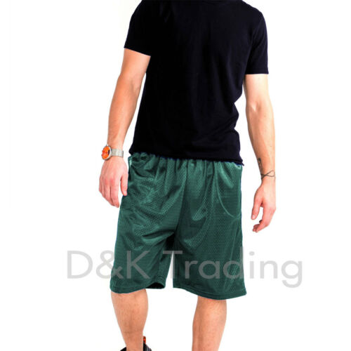 Men/'s Mesh Jersey Athletic Fitness Workout Colors Shorts 2 Pockets Size:S-5XL