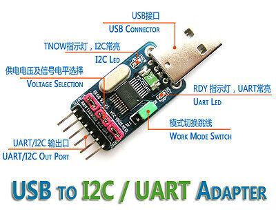 USB to I2C IIC UART TTL Master Adapter Converter STC ISP Download  Debugging