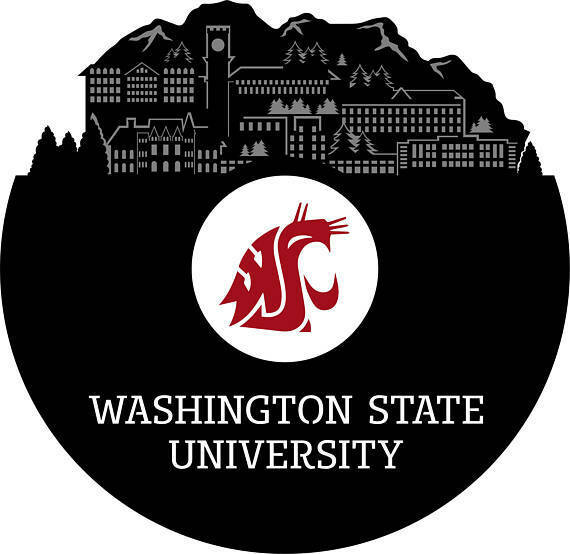 Washington State University Vinyl Wall Art Record Gift for Student Bedroom Decor
