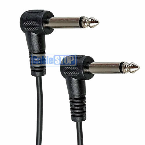 """6m 6.35mm RIGHT ANGLE Mono Jack Male Plug 1//4/"""" Guitar Amp Cable Audio Patch Lead"""