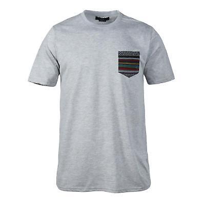 Beautiful Giant Men/'s T-shirt O Neck Short Sleeve Pocket Tee Cotton Dark Grey