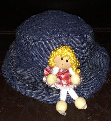 Puppenmode Jeansmütze KU 26-28 cm
