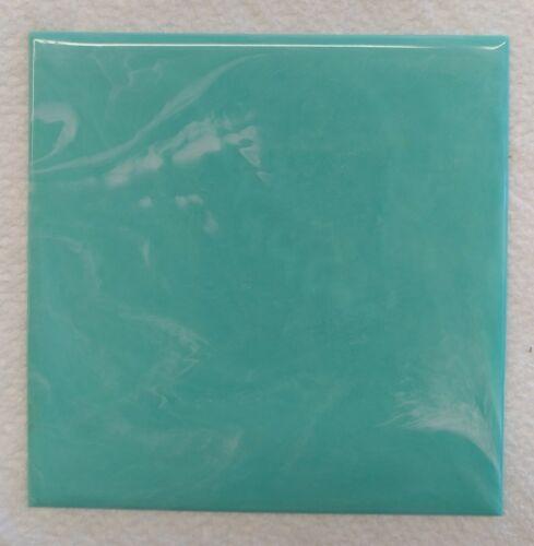 """VINTAGE Aquamarine Marble PLASTIC TILE 4 1//4/"""" wall bathroom kitchen polystyrene"""