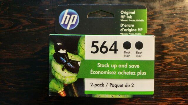 HP 564 Black Ink Cartridge - 2-pack - NEW IN BOX - Exp. AUG/2022