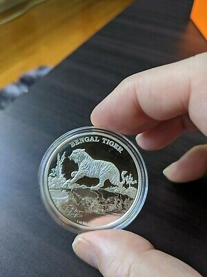 Endangered Mahogany Glider 2015 $1 TUVALU 1oz Silver Proof Coin