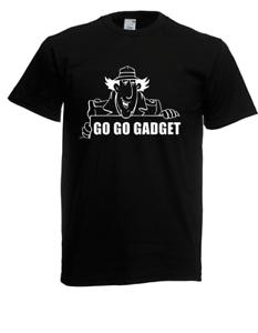 Camiseta-Hombre-Inspector-Gadget-Dibujos-Animados-i-Eslogans-Fun-Divertido-Hasta