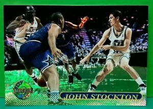 John Stockton insert card Matrix 1996-97 Topps Stadium Club #32