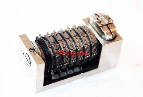 "For Heidelberg Kluge 3//16/"" Roman Font Letterpress Numbering Machine 6 digits"