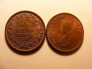 India British 1 Anna 1930 C Unc #t71 391 British Coins: World