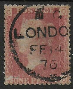 SG43-1d-Rose-Red-Plate-178-VFU-With-London-1876-CDS-Ref-0793