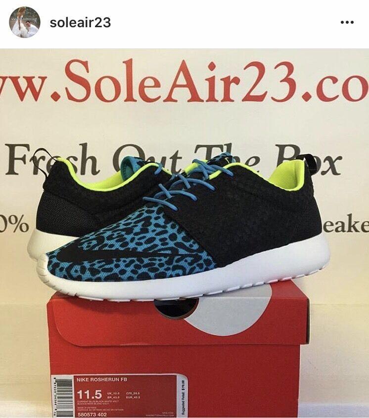 Nike roshe correre fb attuale Uomo dimensione blu