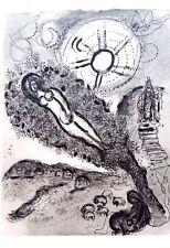 Marc Chagall offset lithograph Bible  paris maeght 1960 original 67 2 sided