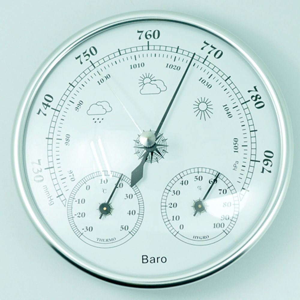 1 X 130mm Wall Hanging Barometer Weather Thermometer Hygrometer 960~1060hPa New