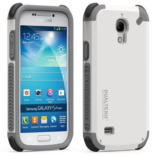 size 40 d6d36 39cb7 PureGear DualTek Case for Samsung Galaxy S4 Mini White and Gray
