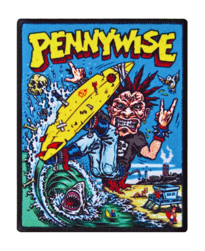 Pennywise punk textile printed patch diy sew on rock hardcore skate punk patches