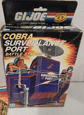 GI JOE~ 1986 COBRA SURVEILLANCE PORT ~ 100% UNBROKEN ~ BOX, BLUEPRINTS &INSERT
