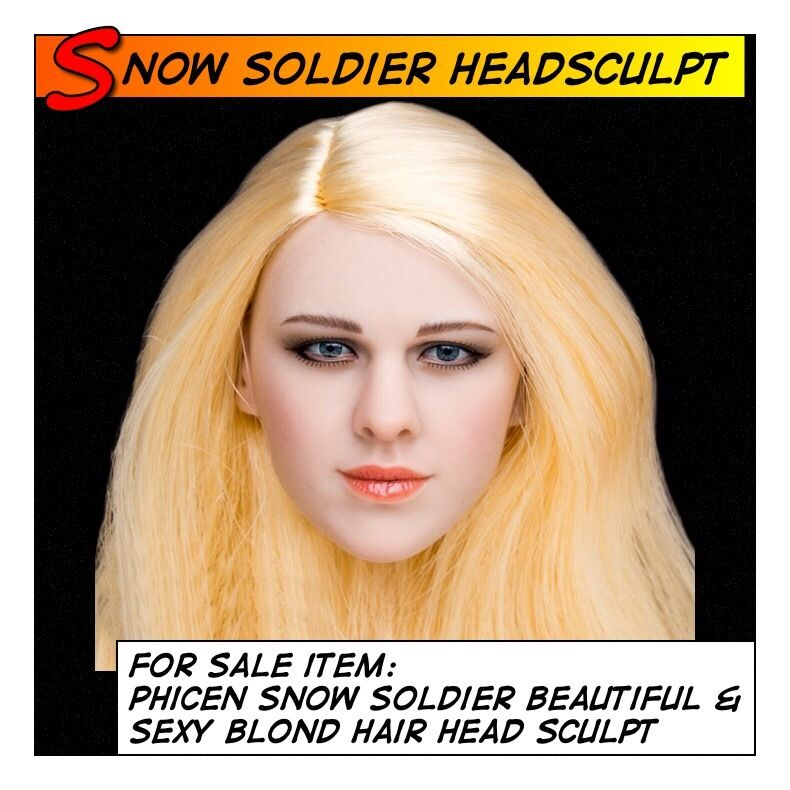 Phicen/TBLeague Snow Soldier Hot Blonde Hair Head Sculpt for 1/6 12in scale Toys