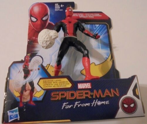 spiderman far  from home action figure web punch hasbro marvel