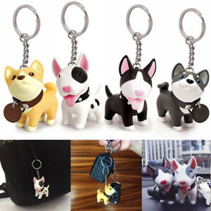 Cute-Puppy-Dog-Shiba-Inu-Bull-Terrier-Key-Chain-Ring-Toy-Figurine-With-Collar