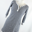 Love-to-Lounge-Womens-Size-10-Blue-Striped-Cotton-Blend-Basic-Tee thumbnail 1