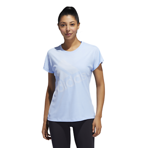 adidas Performance Damen Sport T-Shirt Badge of Sport T-Shirt glow blue