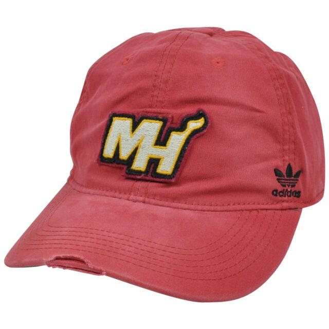 687dcd17 NBA Adidas Miami Heat Distressed Garment Wash Flex Fit Hat Cap EP52Z Large  XLRG