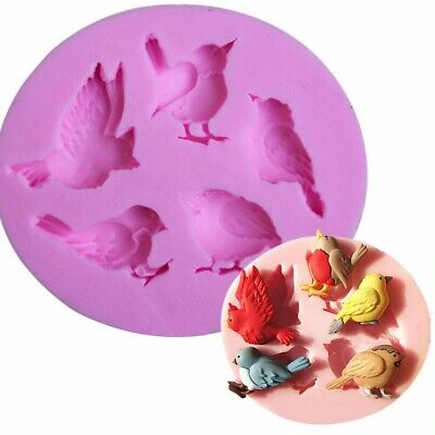 DIY Silicone 3D Bird Shape Chocolate Cake Fondant Mold Baking Mould Craft Tool