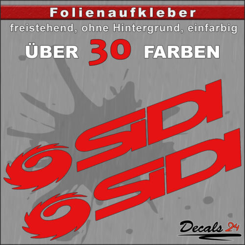 15cm 30 Farben 2er SET SIDI Sponsoren-Folienaufkleber Auto//Motorrad